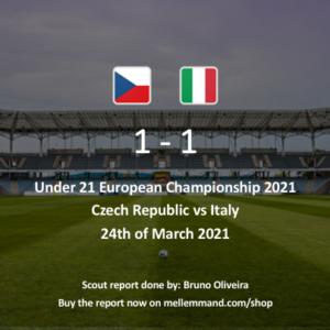 Czech Republic vs Italy – Under21 Scout Report