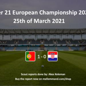 Portugal vs Croatia – Under21 Scout Report
